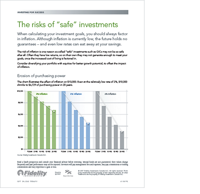 "The risks of ""safe"" investments"