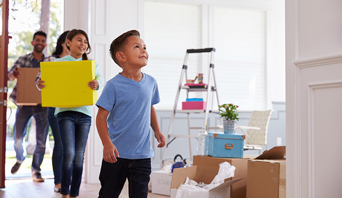 TFSA - family moving into new home
